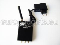 A set of wireless transmitter and receiver for audio-video signals 1 W